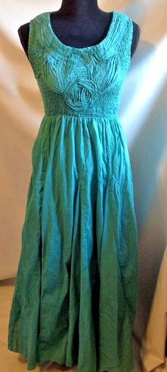 Soft Surroundings Delphine Dress Maxi Size PS Petite Small Green Cotton Smocked | Clothing, Shoes & Accessories, Women's Clothing, Dresses | eBay!