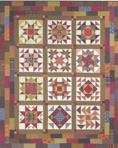 Civil War Quilts: Resources for Pieced BOM's & Quiltalongs - Lori Smith's Abigail's Sampler