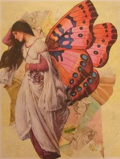 a butterfly girl