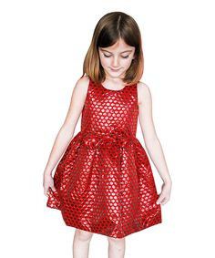 Look at this Red Copper Nella Dress - Toddler & Girls on #zulily today!
