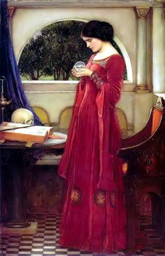 The Crystal Ball John William Waterhouse Femme Classic Art