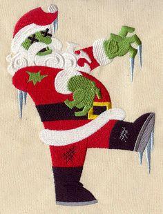 Zombie Santa towel kitchen bathroom Christmas. $12.00, via Etsy.