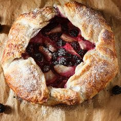 Blackberry Pear Galette with Honeyed Goat Cheese.... it is taking every morsel of willpower not to run to store immediately to buy the ingredients.