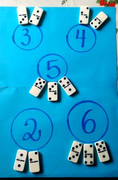 Simple additions with dominoes for Early Childhood Education, # dominos . Math For Kids, Fun Math, Math Games, Preschool Activities, Preschool Learning, Kindergarten Math, Teaching Math, Early Math, Homeschool Math