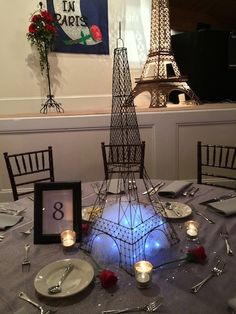 This Bat Mitzvah at the Defoor Centre was given a distinctly Parisian feel… Paris Prom Theme, Paris Party, Paris Wedding, Bat Mitzvah Themes, Bat Mitzvah Party, Bar Mitzvah, French Wedding Decor, Paris Sweet 16, Prom Decor