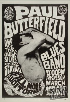 The Paul Butterfield Blues Band Poster, Fillmore Auditorium (San Francisco, CA) Mar 25, 1966
