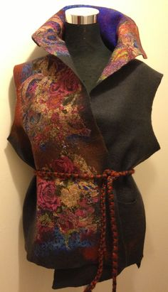 www.nadinsmo.com wool felted clothes- vest by Nadin Smo design.