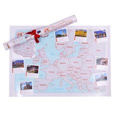 Wiadomo, że zakochani nie patrzą na upływ czasu – mogą za to zerknąć na miejsca, które razem zwiedzili. Mapa dla Dwojga to świetna forma spędzenia czasu z drugą połówką oraz rzecz, która jeszcze bardziej Was do siebie zbliży. Zaplanujcie najbliższą wspólną podróż albo razem zaznaczcie miejsca, w których już byliście – po prostu zdrapując je z mapy!
