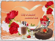 Online Image Editor, Beautiful Roses, Good Morning, Happy Birthday, Table Decorations, Cake, Hearts, Drinks, Home Decor