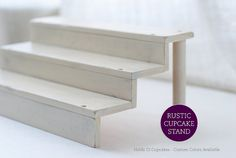 Shabby Chic Cupcake Stand Party Decorations for Dessert by HelloMySweet, made to order. Holds 12 cupcakes or 24 cake pops.