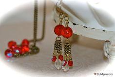 Gatsby Inspired Red Tassel Earrings. Extra Long. by DJAjewels, $30.00