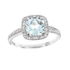 March's birthstone, nope, not emerald! It's aquamarine. I would love this as my wedding ring!! ~JC~