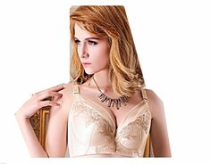 18ad58d48d YOYAGEA Embroidery big yards thin models underwear C D large cup push up  adjustable bra (90C 40B