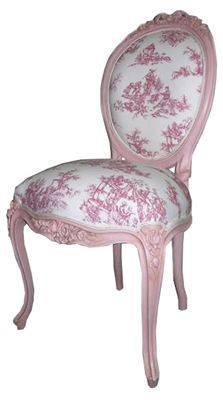 French louis XV Chair Pink Frame - Timeless Interiors.