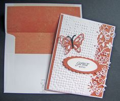 "Get Well Card. Memory Box ""Kensington Border;"" Taylored Expressions ""Flutter-Bys"""