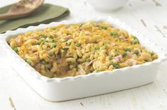 Cheddar Mac and Ham Casserole... sneak some protein and veggies into traditional mac and cheese.