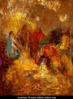 Odilon Redon Christ and His Disciples hand painted oil painting reproduction on canvas by artist Odilon Redon, Oil Painting For Sale, Post Impressionism, Oil Painting Reproductions, Bible Pictures, Christian Art, Christian Images, Religious Art, Oeuvre D'art