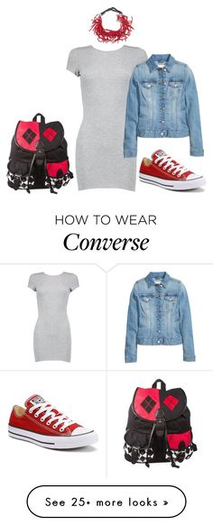 """""""Touch of Red"""" by carlafashion-246 on Polyvore featuring Boohoo, Converse and Brunello Cucinelli"""