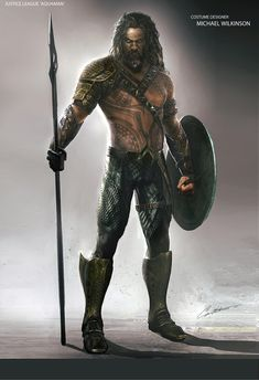 Director James Wan introduced Arthur Curry's classic comic book costume in Aquaman, and newly surfaced Justice League concept art reveals Zack Snyder's take on that outfit. Superhero Suits, Superhero Design, Jason Momoa, Aquaman Film, Comic Book Costumes, Marvel Dc Movies, Justice League Aquaman, Orange Suit, Warrior Drawing