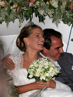 Prince Nikolaos of Greece and Tatiana Blatnik leave in a horse drawn carriage after getting married at the Cathedral of Ayios Nikolaos (St. Nicholas) on Aug. 25, 2010, in Spetses, Greece.