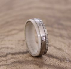 Antler Ring Men Ring Stainless Steel Ring Wedding by RingsDepot