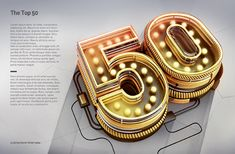 The Top 50 – Typography by Peter Tarka