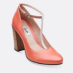 404bf722f Crumble Berry Coral Combi Clark Heels