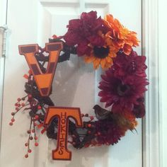 Since Trevor is transferring to VT in the fall...this will be my next craft day project!!! Virginia Tech Wreath