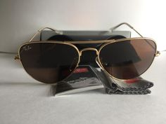 74079b6a72 Ray-Ban Aviator Sunglasses 3025 Brown Color 58  14 112 3N Medium Size RB3025