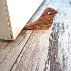Wooden (Olive Tree) Door Stop, Doorstops, Handmade Door Wedge , Animal Design