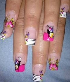 Viviana Fancy Nails, Trendy Nails, Cute Nails, Toe Nail Designs, Nail Polish Designs, Nails Design, Luminous Nails, Wow Nails, Animal Nail Art