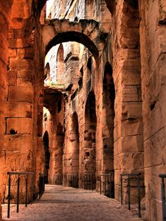 Amphitheater of El Jem, Tunisia, Africa, via ColorsOfLife