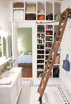 Love this built in storage