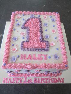 Number 1 Birthday Cake Boy, Square Birthday Cake, Giraffe Birthday Cakes, 1st Birthday Cake For Girls, Minnie Mouse First Birthday, Birthday Sheet Cakes, First Birthday Decorations, Rectangle Cake, Bolo Minnie