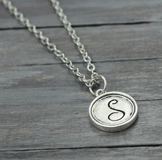 Initial Necklace, Live Necklace, Inspiration Necklace, Handstamped Jewelry, Personalized Jewelry