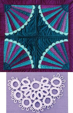 Free Lace Fan Quilt pattern