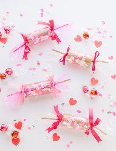 valentine's confetti crackers diy