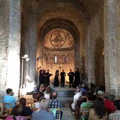 Música reservata al Castell de Mur, en el primer dels concerts del 10è Festival del Romànic i dels Castells de Frontera del Pallars Jussà. 2014