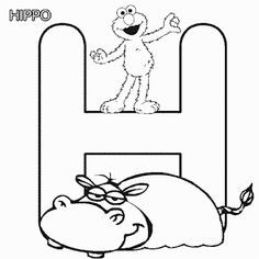 Sesame Street Alphabet Free Coloring Pages