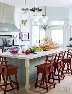 8 cozinhas das celebridades para você se inspirar