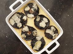 Get Baked Polenta with Mushrooms & Blue Cheese Recipe from Food Network