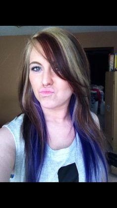 My blonde, deep red  purple hair. Blonde hair, multi color hair, Redken color