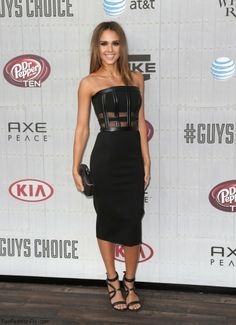 Jessica Alba in David Koma dress at 2014 Spike TV's Guys Choice Awards.