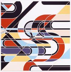 Sarah Morris Painting Niagara Clips Knots Geometric 2010