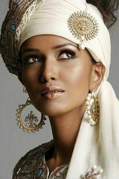 Accessoires de mariée indiennes belle exotique