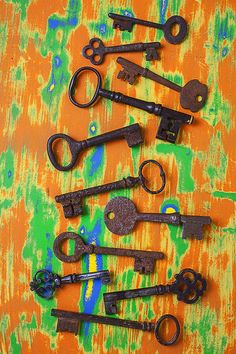 Old and rusty keys