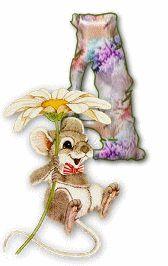 Alfabeto ratoncito con margarita