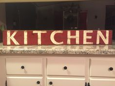 A personal favorite from my Etsy shop https://www.etsy.com/listing/276131764/kitchen-wood-sign-fixer-upper-kitchen