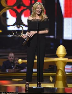 Honoured: Julia Roberts, 48, was awarded the Woman Of The Decade Award at Spike TV's Guys Choice Awards in Culver City on Saturday