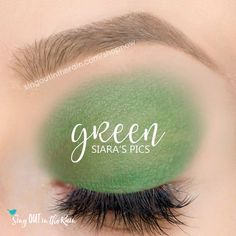 Part of the Rainbow Collection, Limited Edition Green ShadowSense by SeneGence is a beautiful matte eyeshadow that will last all day!  Mix with Snow or Onyx to create YOUR perfect shade of Green.  #rainbow #pride #rainbowcollection #greenshadowsense #cosplay #green